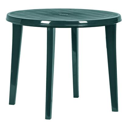 Zahradní stůl LISA kulatý, tmavě zelený