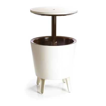Zahradní barový stolek COOL BAR s nádobou na led béžový