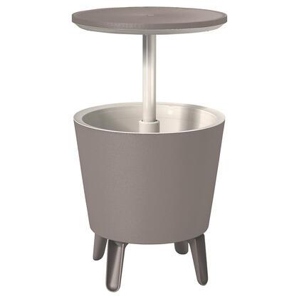 Zahradní barový stolek COOL BAR s nádobou na led šedý