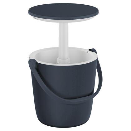 Přenosný barový stolek GO BAR s nádobou na led grafitový