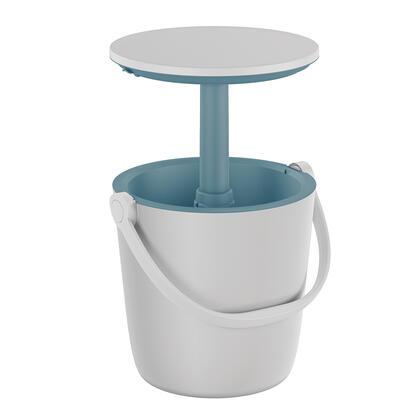 Přenosný barový stolek GO BAR s nádobou na led, bílý