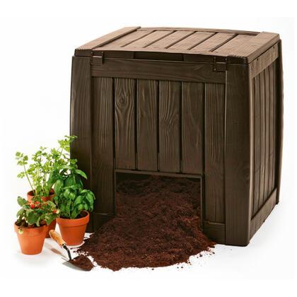 Deco kompostér se základnou 340 l, hnědý