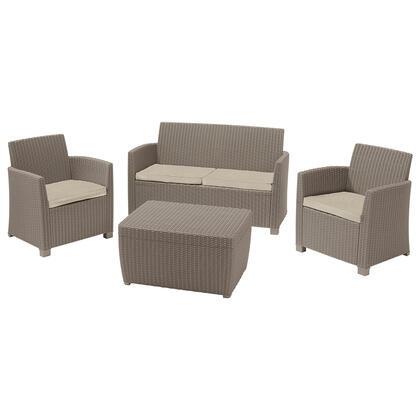 Set zahradního nábytku MIA cappuccino + béžová