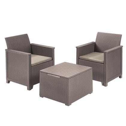 Balkonový set EMMA, cappuccino + písková
