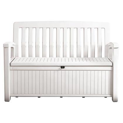 Zahradní lavice PATIO s úložným prostorem bílá