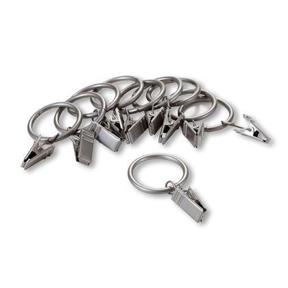 Sada kovových kroužků na záclony se žabkami stříbrná 10 +10 ks