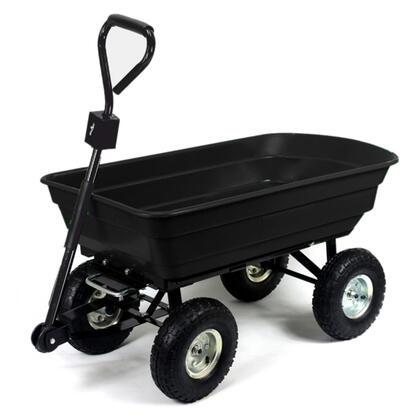 Zahradní vozík se sklápěcím mechanismem černá