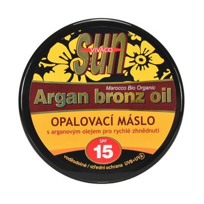 Opalovací máslo s arganovým olejem SPF 15 200 ml