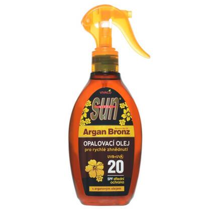 Arganový opalovací olej SPF 20 200 ml