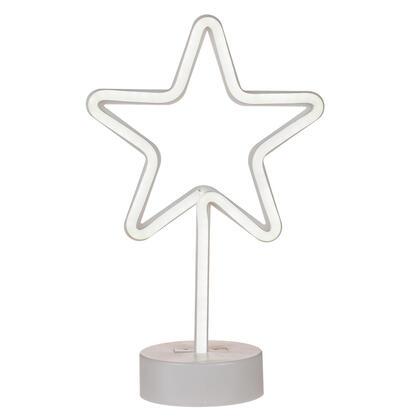 Dětská LED lampa HVĚZDA bílé světlo
