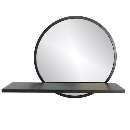 Zrcadlo nástěnné s poličkou RAMON černá