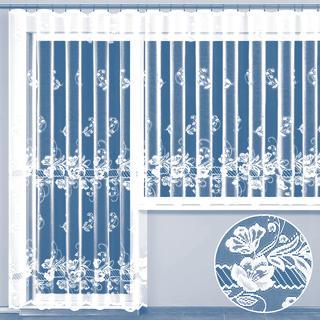 Hotová žakárová záclona SAMANTHA - balkonový komplet