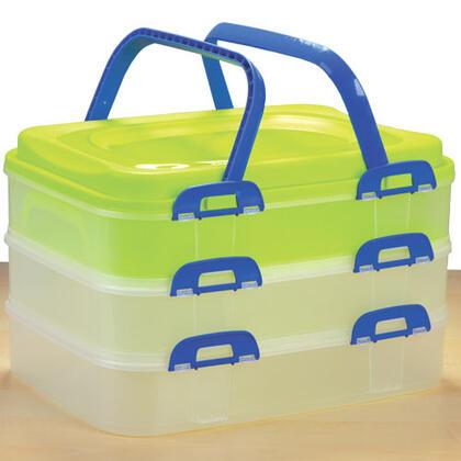 Plastový přenosný box na potraviny 3 patra