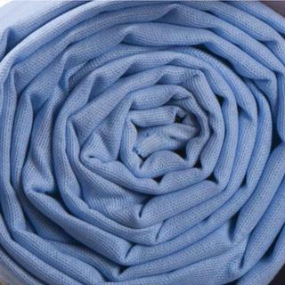 Bavlněné plátěné prostěradlo 140 x 230 cm modrá
