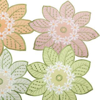 Textilní prostírání na stůl květy