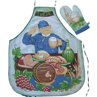 Kuchyňská zástěra s chňapkou - Švejk