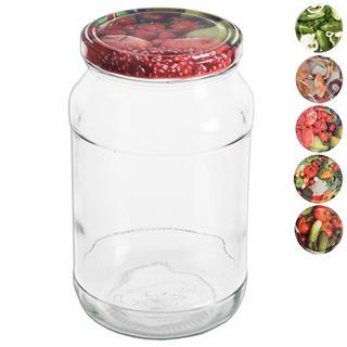 Zavařovací sklenice s víčkem 8 ks 0,9 l