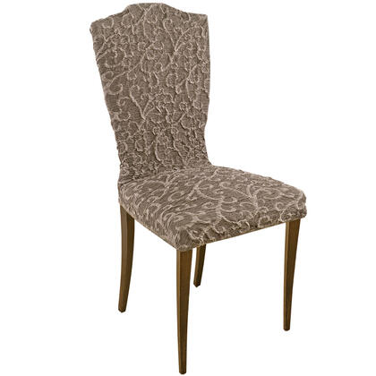 Bielastické potahy 3D ARABESCO hnědé židle s opěradlem 2 ks 45 x 45 x 50 cm