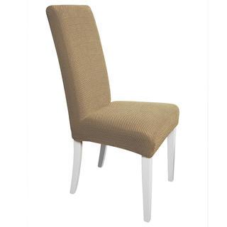 Multielastické potahy CARLA oříškové židle s opěradlem 2 ks 40 x 40 x 60 cm