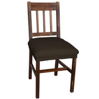 Multielastické potahy CARLA hnědé, židle 2 ks 40 x 40 cm
