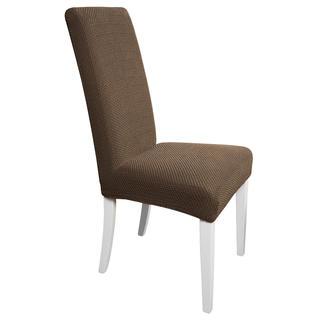 Multielastické potahy CARLA hnědé židle s opěradlem 2 ks 40 x 40 x 60 cm