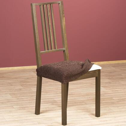 Luxusní multielastické potahy ZAFIRO čokoládové židle 2 ks 40 x 40 cm
