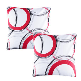 Bavlněné povlaky na polštářky Tiana červené 2 ks