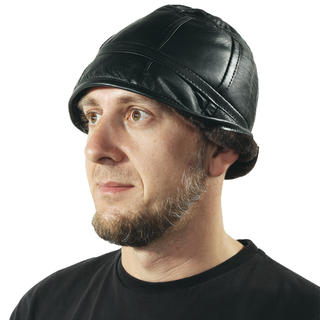 Pánský klobouk z jehněčí kůže