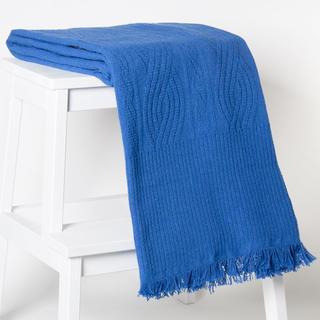Bavlněná deka/přehoz Seul modrá