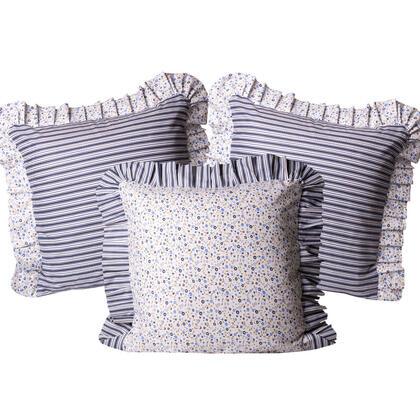 Bavlněné povlaky na polštářky Žaneta modré 3 ks