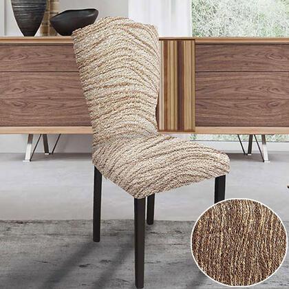 Bielastické potahy UNIVERSO žíhané hnědé, židle s opěradlem 2 ks 45 x 45 x 50 cm