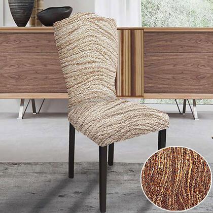 Bielastické potahy UNIVERSO žíhané cihlové, židle s opěradlem 2 ks 45 x 45 x 50 cm