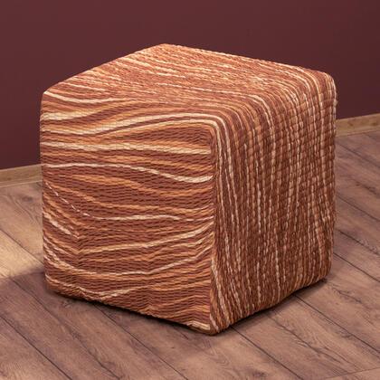 Bielastické potahy UNIVERSO žíhané cihlové, taburet (40 x 40 x 40 cm)