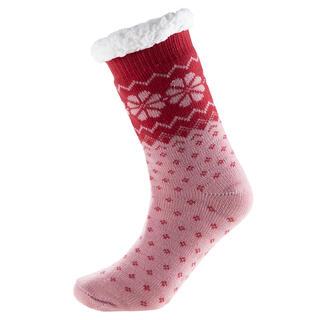 Hřejivé ponožky na spaní růžové