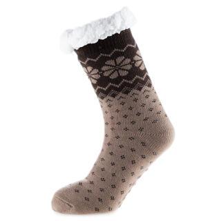 Hřejivé ponožky na spaní hnědé
