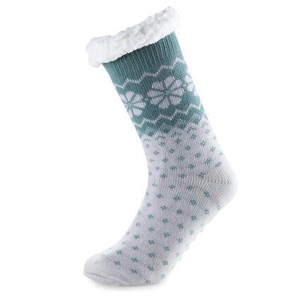 Hřejivé ponožky na spaní zelené