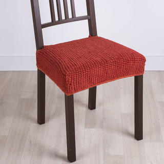 Super strečové potahy GLAMOUR cihlové, židle 2 ks 40 x 40 cm