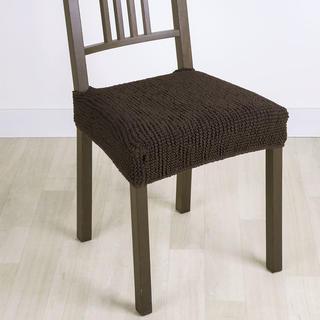 Super strečové potahy GLAMOUR hnědé, židle 2 ks 40 x 40 cm