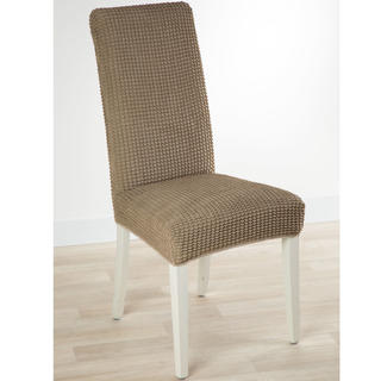 Super strečové potahy GLAMOUR oříškové, židle s opěradlem 2 ks 40 x 40 x 60 cm