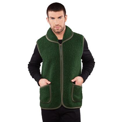 Pánská lovecká vesta z Merino vlny zelená