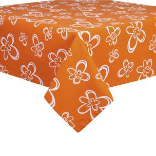 Bavlněný ubrus Daisy oranžový 120 x 140 cm