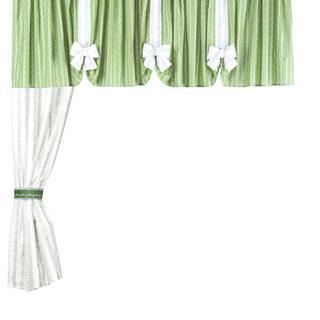 Bavlněné závěsy Evelina 5 dílů zelená