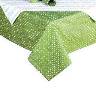 Bavlněné ubrusy s prostíráním Evelina zelená