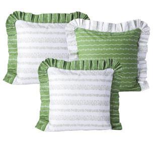 Bavlněné povlaky na polštářky Evelina zelená 3 ks