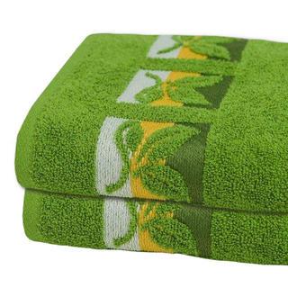 Bavlněné froté ručníky tmavě zelené