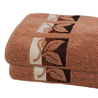 Bavlněné froté ručníky hnědé