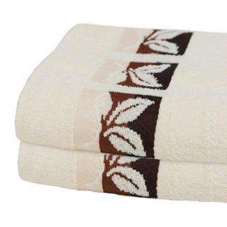 Bavlněné froté ručníky smetanové