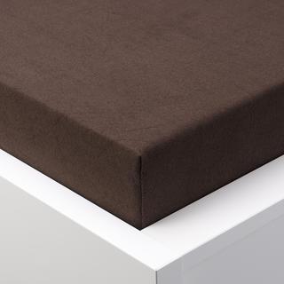 Napínací prostěradlo froté EXCLUSIVE čokoládová jednolůžko