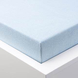 Napínací prostěradlo froté EXCLUSIVE ledově modrá, dětská postýlka