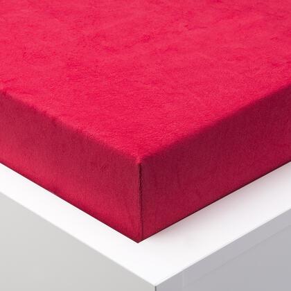 Napínací prostěradlo froté EXCLUSIVE červená jednolůžko